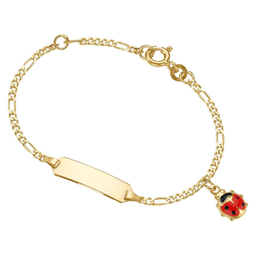 Taufgeschenk-Kind-Armband-Marienkäfer